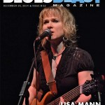 Lisa Mann on the cover of Blues Blast Magazine